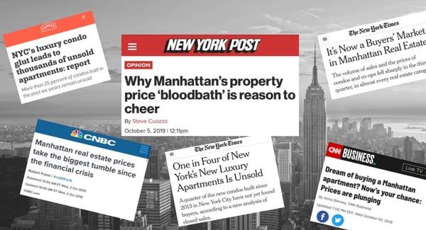 मैनहट्टन Condo मूल्य बाजार में मंदी